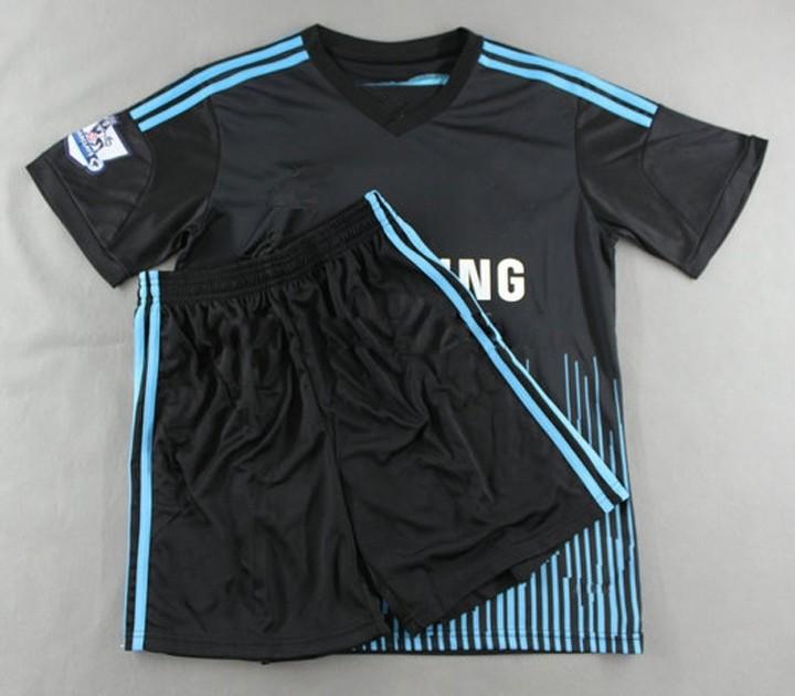 14 15 New Chelsea away black football jersey #8 LAMPARD player's soccer uniform #9 TORRES sportswear #11 Oscar sports jersey kit(China (Mainland))