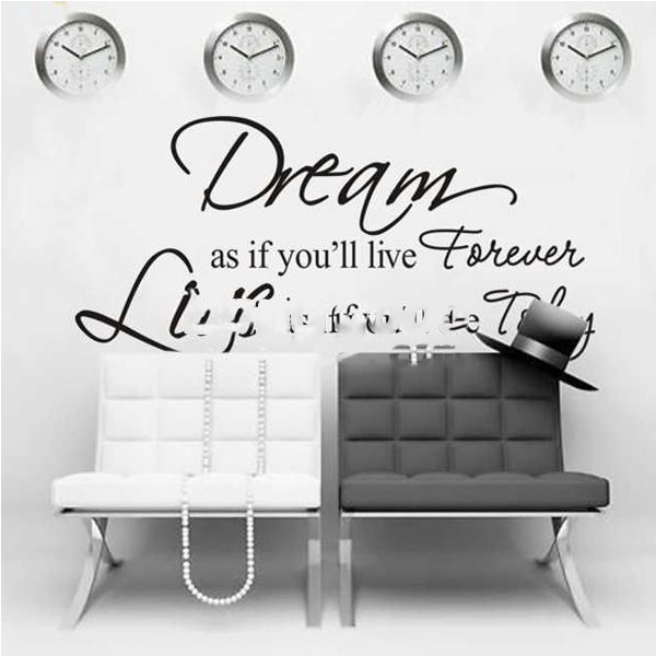ShopHub Dream As If You Will Live Forever PVC Wall Sticker Wallpaper ZY8133(China (Mainland))