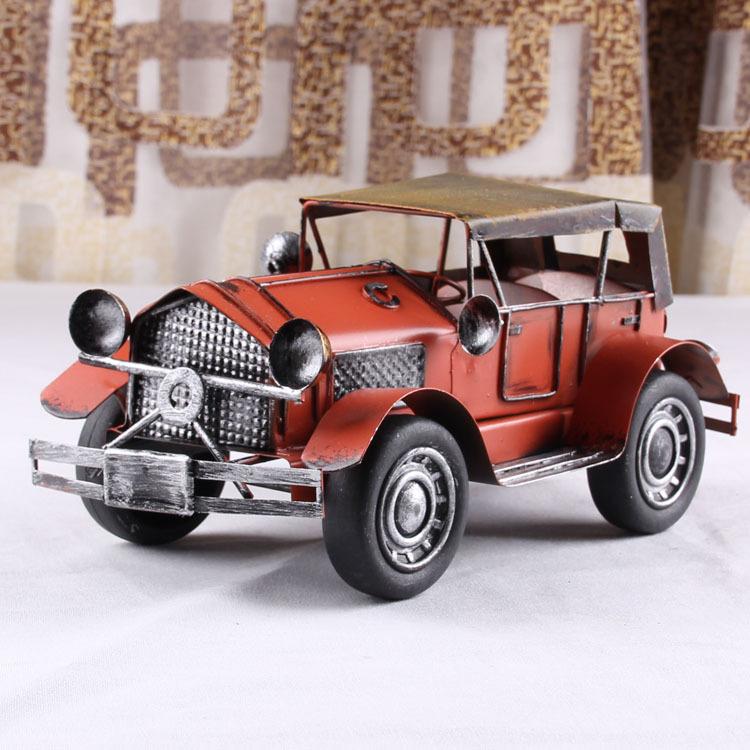 European And American Retro Tin Metal Crafts Handmade Vintage Car Model Photography Home Furnishing Ornaments(China (Mainland))