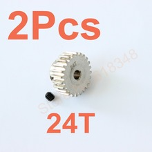 Buy 2pcs Motor Gear 24T 48P HSP Spare Parts Upgrade Pinion gear TRAXXAS Himoto Redcat HPI 1/10 Model RC Car Al for $2.52 in AliExpress store