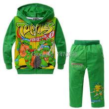 Teenage Mutant Ninja Turtles Boy Hoodis Coat Top Trousers Kind's Clothing Cute(China (Mainland))