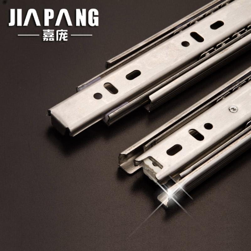 Здесь можно купить  Stainless steel drawer rail slide rail slide rail track three hydraulic damping and mute T  Мебель