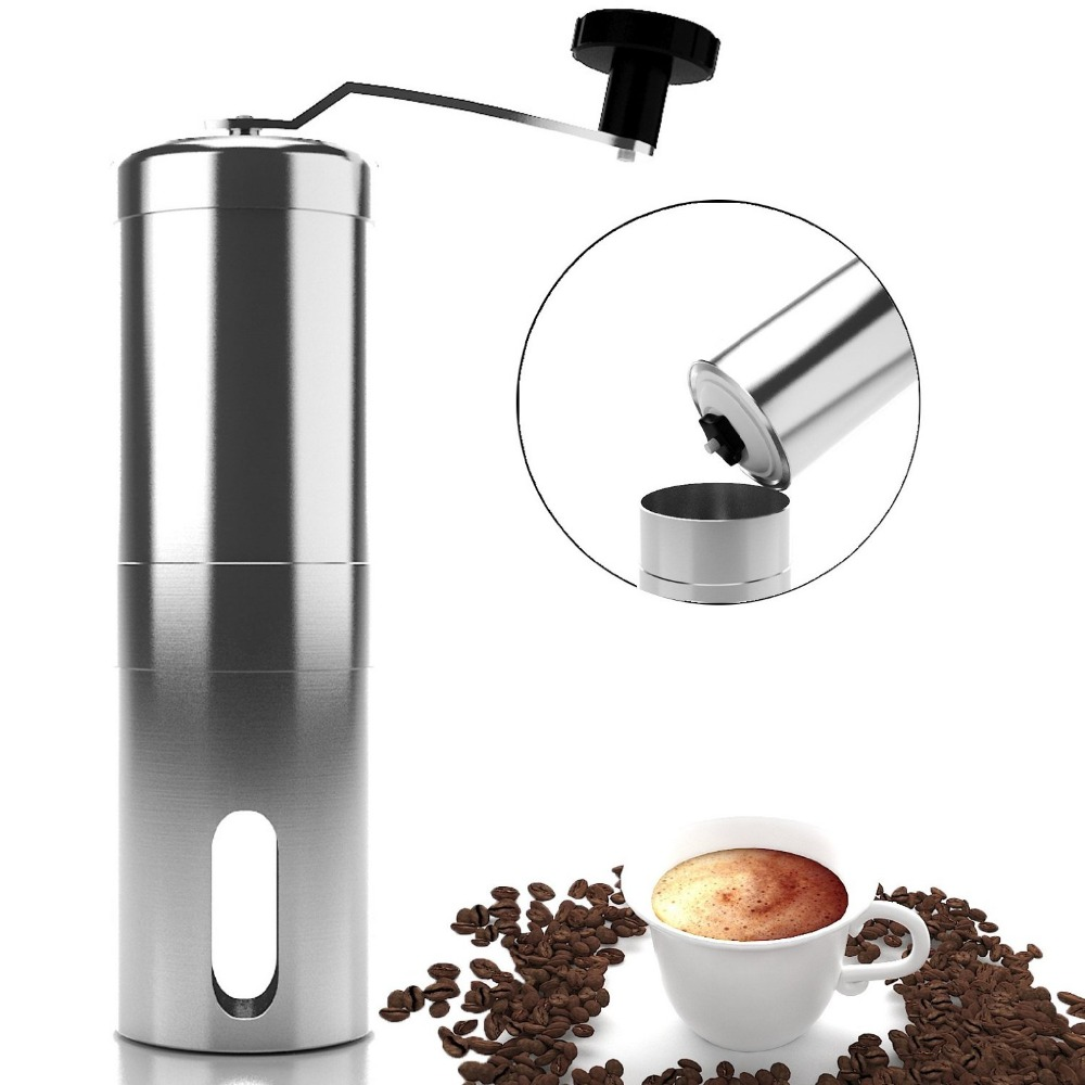Coffee Maker With Coffee Grinder : Coffee Grinder Manual coffee maker Retro Coffee Mill Machine Porcelain Movement eBay