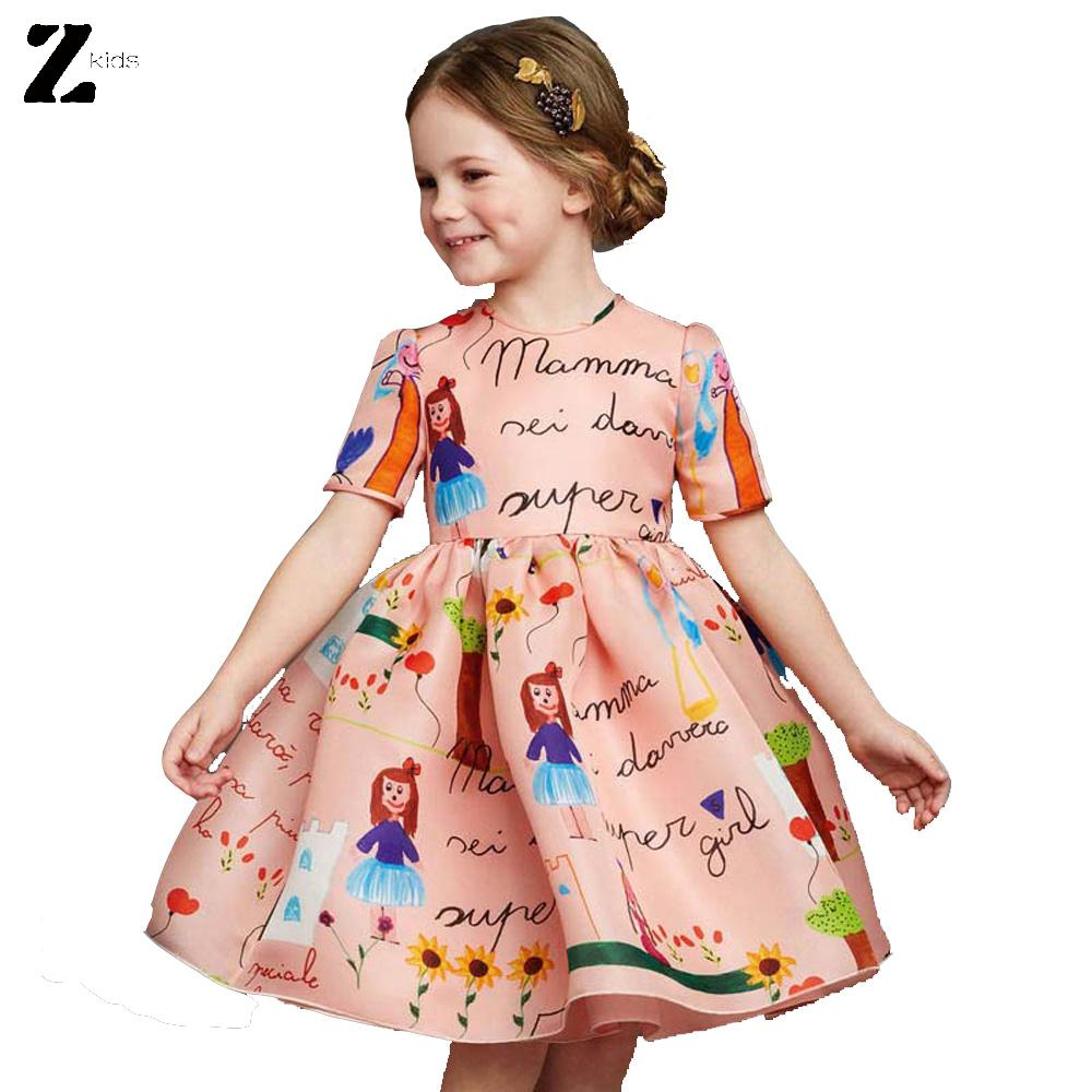 2016 New Summer Baby Girl Dress Children Clothing Princess Party Style Dress for Girls kids Girls Clothes Vestidos(China (Mainland))
