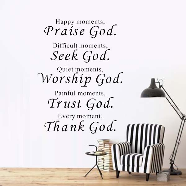 Happy Moment Religious Wall Stickers Decoration Living Room Kitchen Art Wall Decals Vinyl