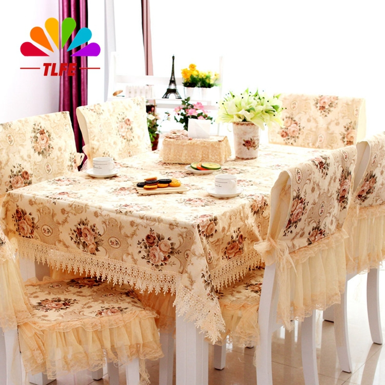 TLFE Home&Garden Europe Home Wedding Decorative Linen Lace Tablecloth Hollow Out Table Cloth Rectangular (no chair cover) ZB001(China (Mainland))