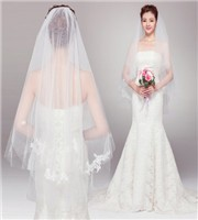 2015-Wedding-Accessories-Bridal-Veil-White-Ivory-Fashional-Vintage-Short-Wedding-Veil-With-Comb-Crystal-Lace
