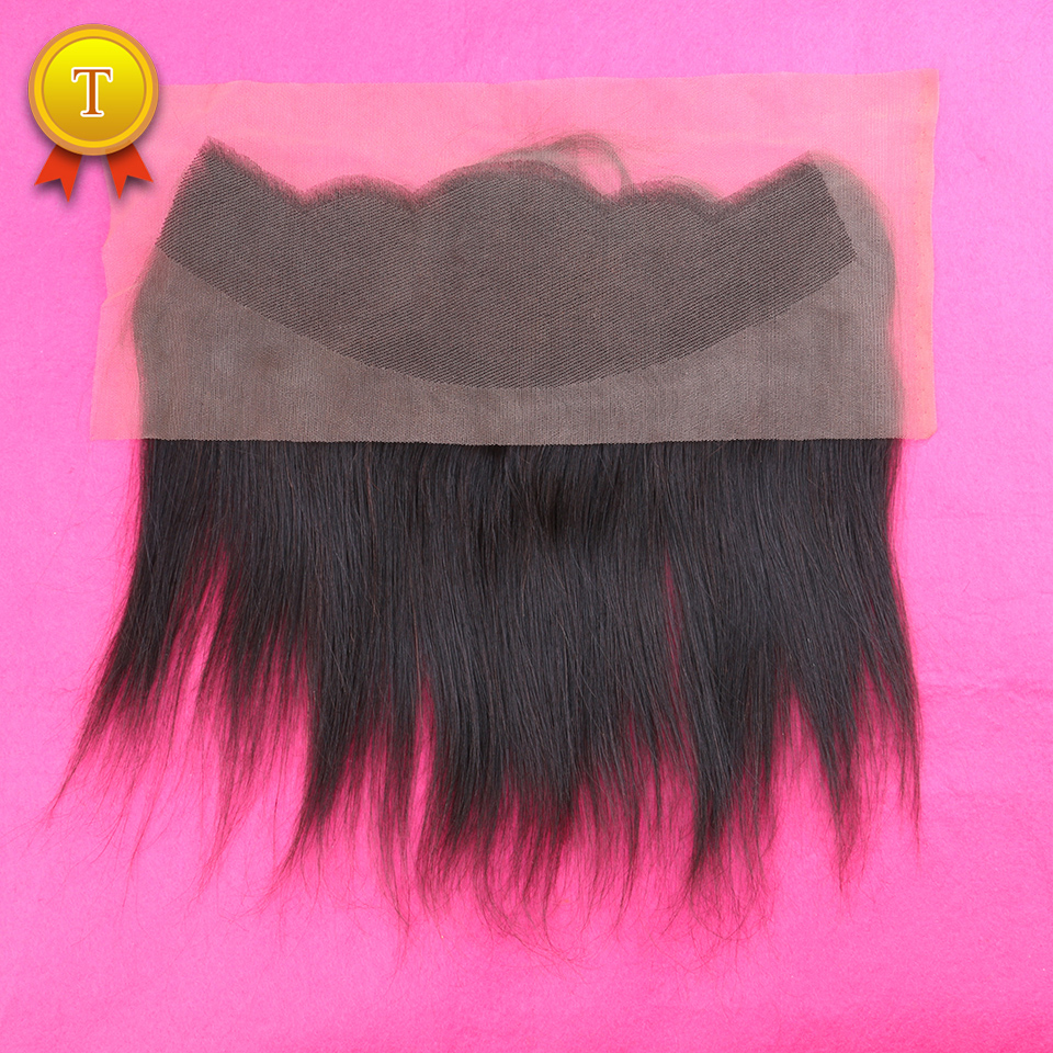 7A Virgin Peruvian Hair Lace Frontal Closure 13x4 With Free Shipping Straight Human Hair Ear to Ear Lace Closure Bleached Knots<br><br>Aliexpress