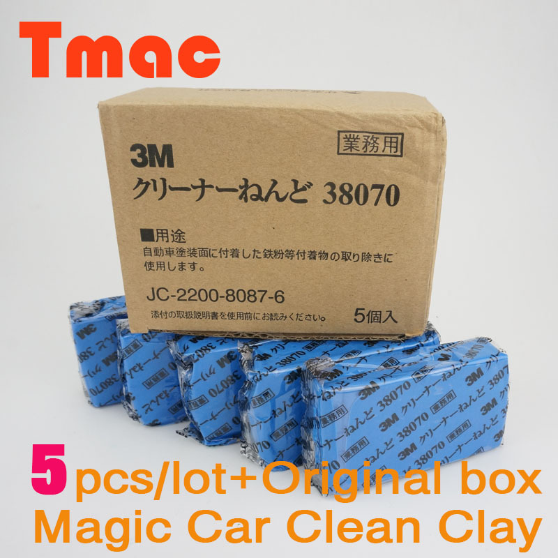 Newest 5pcs/lot 3M 180g Magic Car truck Clean Clay Bar Auto Detailing Cleaner Car Washer magic cleaning kit with retail box(China (Mainland))