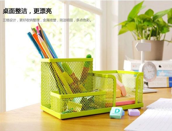 Desktop storage boxes, wrought iron three lattice receive frame, desk desk tidy receive a case(China (Mainland))