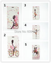 100pcs/lot Free shipping 5colours Drill BUTTERFLY FLOWERS 4.7 inches leather protective cover case for iphone 6 6G iphone6 case