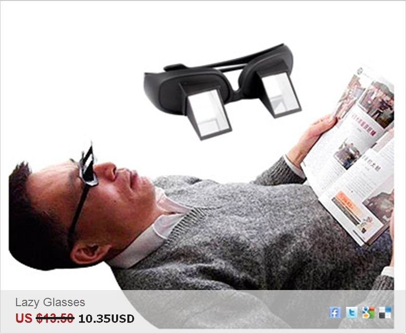 Wholesale Creative High Definition Horizontal Glasses Lazy Glasses,Novelty Bed Lie Down Periscope Glasses