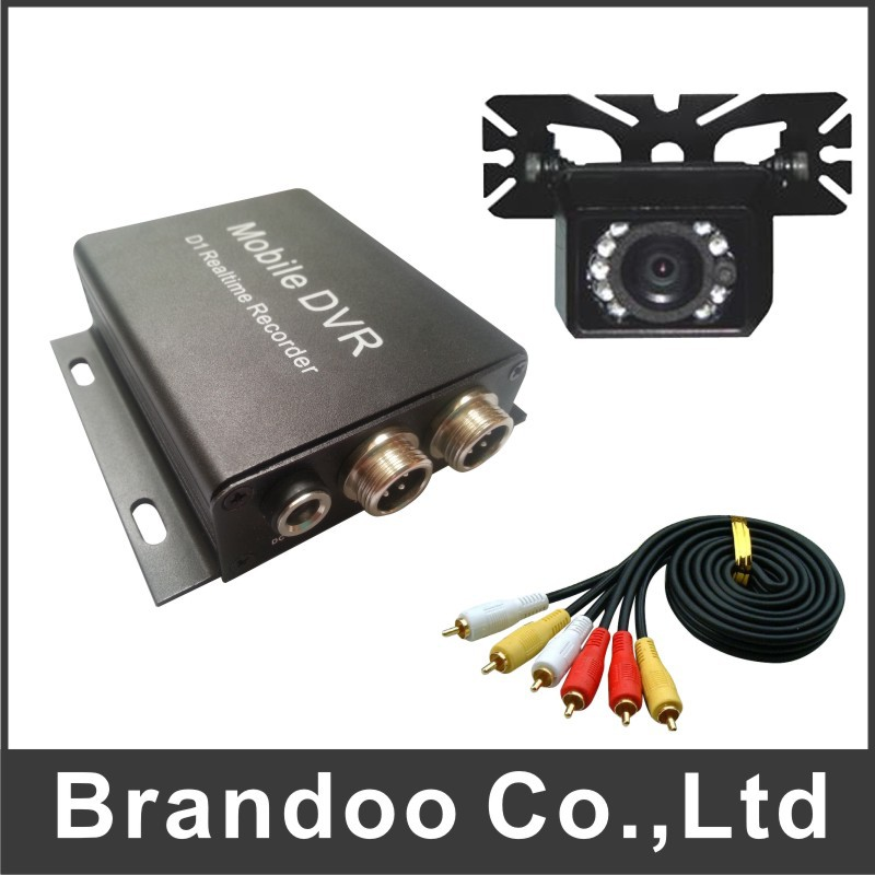 Promotion sales 1CH TAXI DVR KIT, including 2 set of car dvr,car camera, video cable, 64GB auto recording DVR kit(China (Mainland))