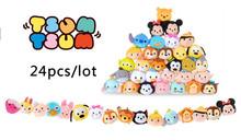 Free shipping 24Pcs/lot 3.5'' Tsum Tsum Plush toy Mickey mouse&Duck&stitch plush pendants toys phone Screen Cleaner Cute doll(China (Mainland))