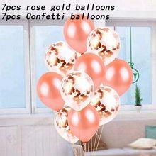 14 Buah Mawar Emas Balon Dekorasi Pernikahan Globos Pesta Ulang Tahun DEC Dewasa 18 Inci Rose Emas Bentuk Hati Hadiah Supplies(China)