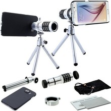 Buy 12x Zoom Optical Telescope Telephoto Lens Samsung Galaxy S3 S4 S5 S6 S7 EDGE Plus Cases Phone Lenses Kit Clips Tripod for $20.95 in AliExpress store