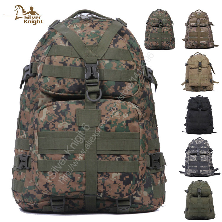 2015 Hot Sale Outdoor Sport Bag Men's Large Tactical Molle Backpacks ACU Army Military Pack Digital Camo Backpack(China (Mainland))