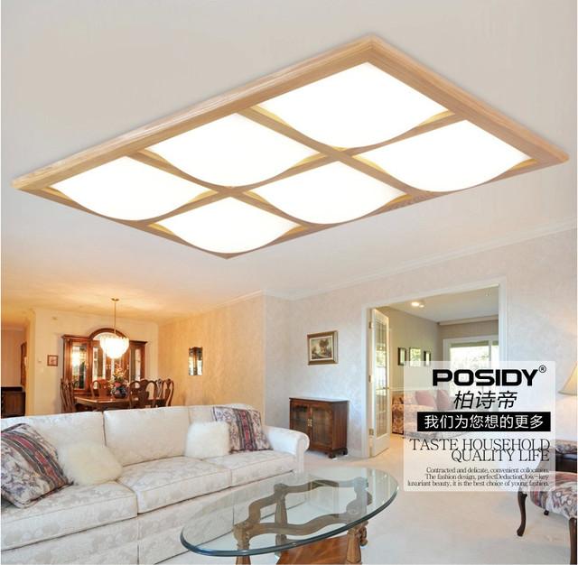 Aliexpress.com : acquista 2015 legno moderne plafoniere a led per ...