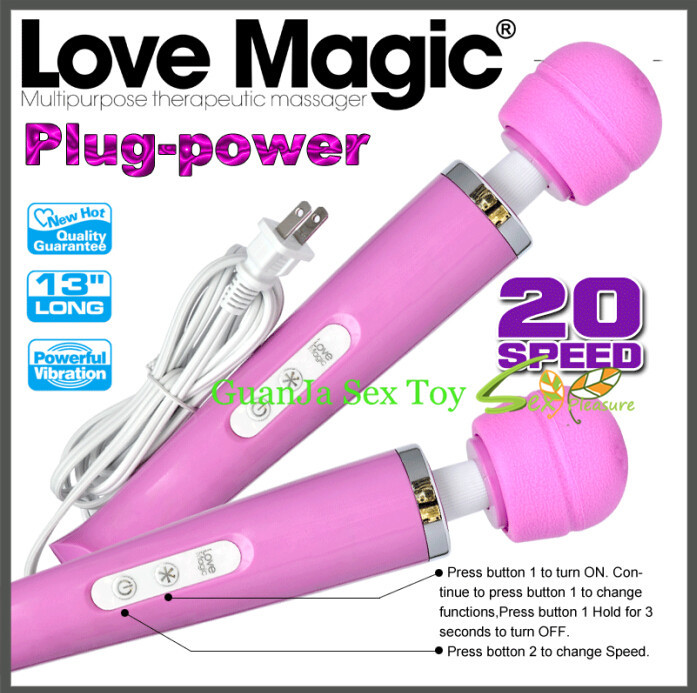 20 speed ,Big Powerful and quiet Plug-in av magic wand massager sex vibrator woman sex toy<br><br>Aliexpress