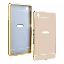 Buy Sony Xperia M4 aqua M5 C3 Mirror case Luxury Slim Aluminum plated Metal Frame +PC Back Cover Sony Xperia Z5 Z5 compact for $2.66 in AliExpress store