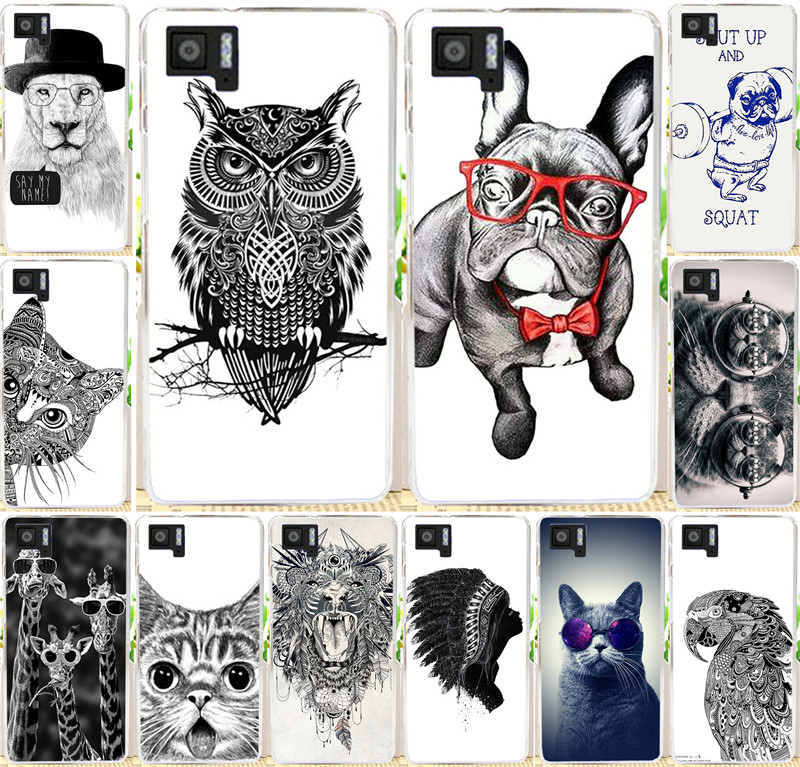 Best selling painted Cool Animal Cat Fox Giraffel Dog Owl PC cell phone case For BQ M5 Cover Shell For BQ Aquaris M5 cases(China (Mainland))