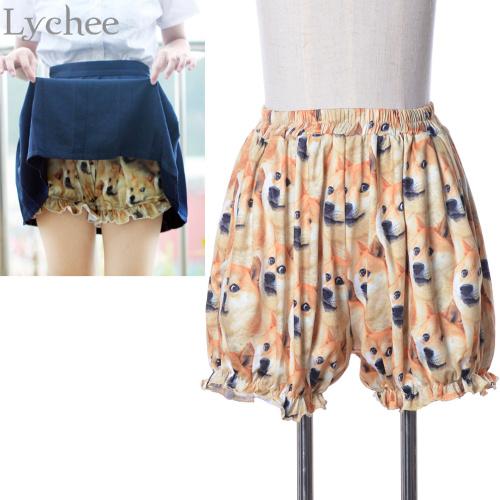 Sexy Japanese Lolita Cute DOGE Meme Pumpkin Underwear Shorts Funny Joke Dog Print Safety Short Pants