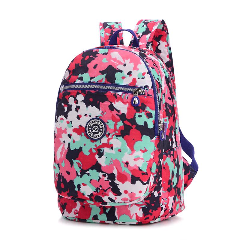 2016 Fashion Backpack Women Bag High Nylon Floral school bags mochila feminina rucksack women back pack bolsa