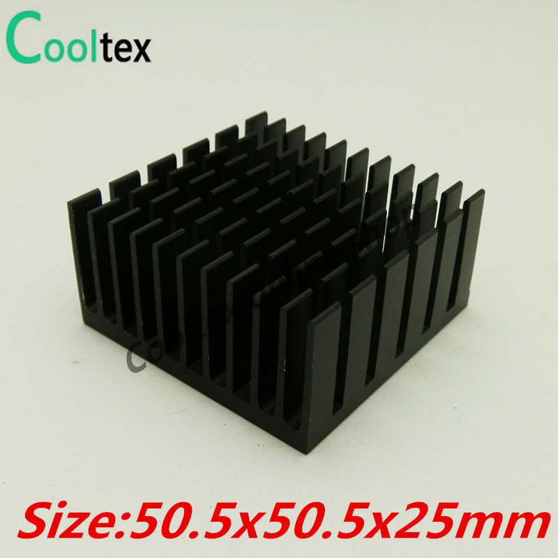 High Quality 10pcs/lot 50.5x50.5x25mm Aluminum HeatSink Heat Sink radiator for electronic Chip LED COOLER cooling recommende!!!