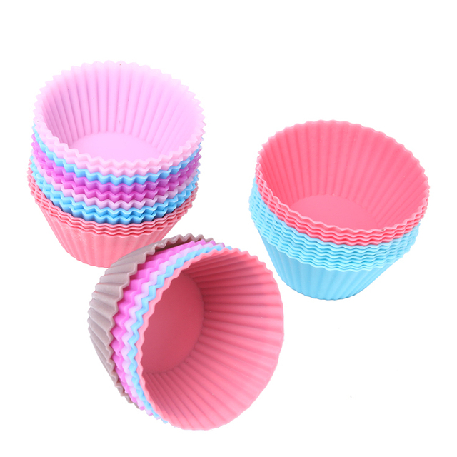 Silicone Muffin Cupcake Cups for Pastry and Baking (6 pcs)