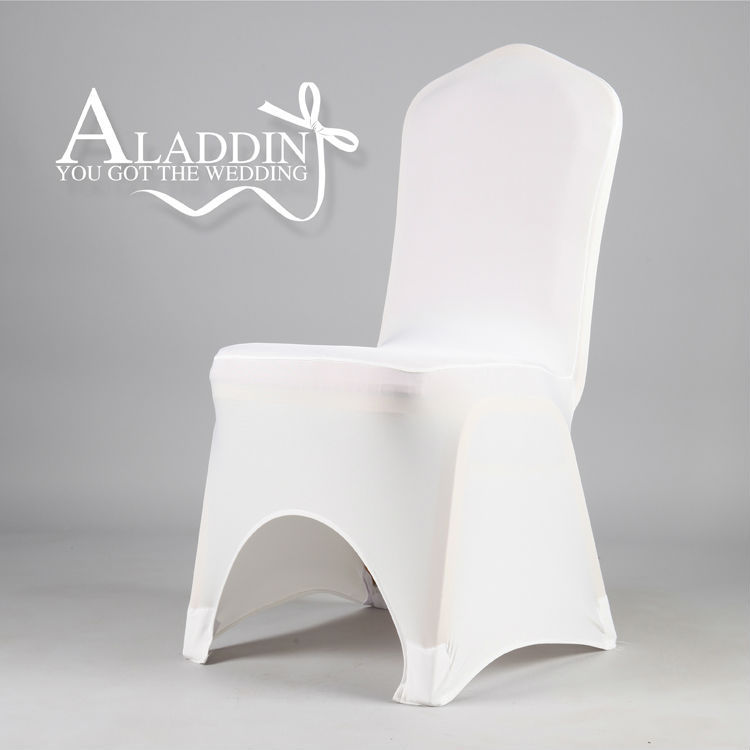 Hot sale cheap white chair cover for wedding decoration