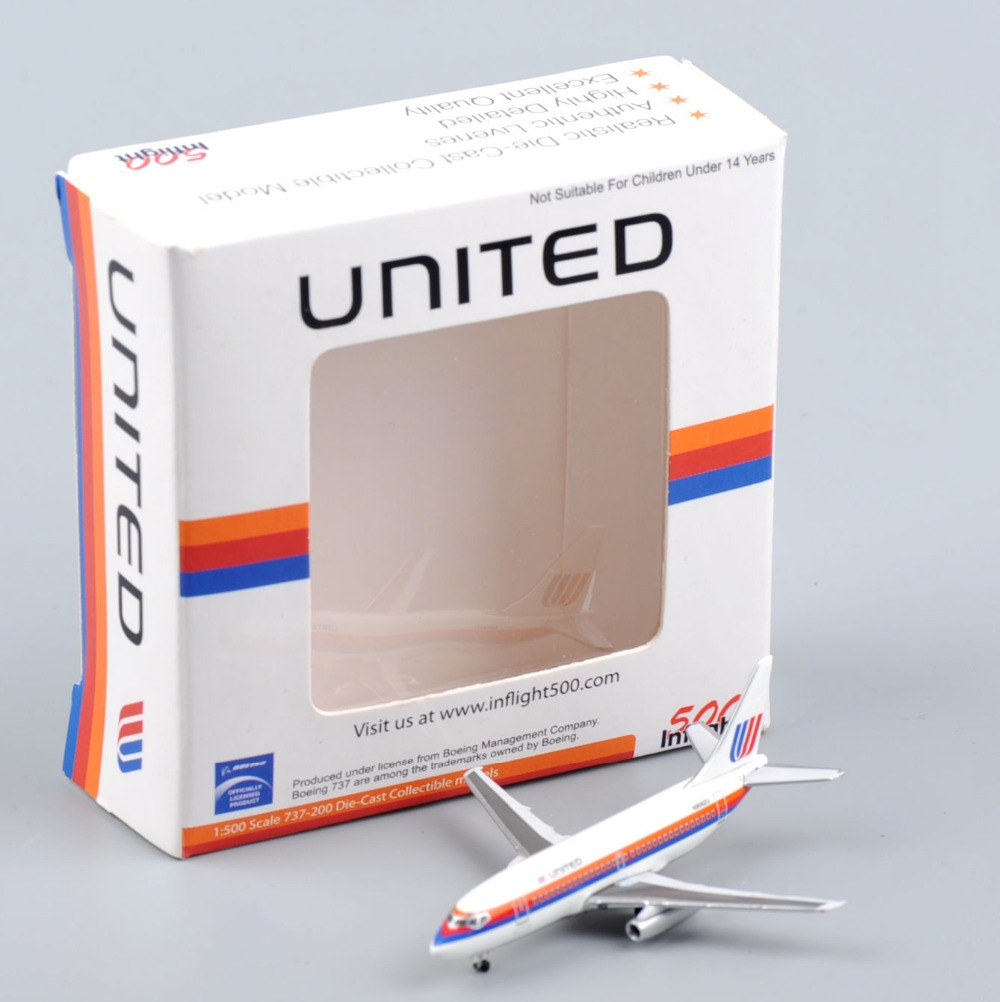 Inflight 500 Model Airplane 1:500 Scale United Saul Bass Boeing 737-200 Airliner Diecast Aircraft Model Kids Toys Brinquedos(China (Mainland))