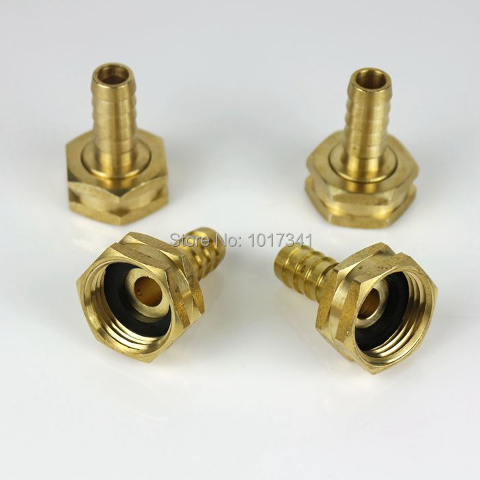 "Brass Garden Hose Fitting, 3/4""GH x 1/2"" Barb, Plate Chiller Adapters Kit, 4 pcs/lot , Brewer Hardware(China (Mainland))"