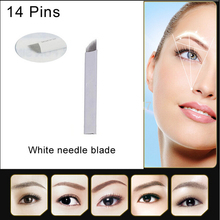 100PCS MICROBLADING PERMANENT MAKE UP MANUAL EYEBROW TATTOO CURVED BLADES NEEDLES Free Shipping(China (Mainland))