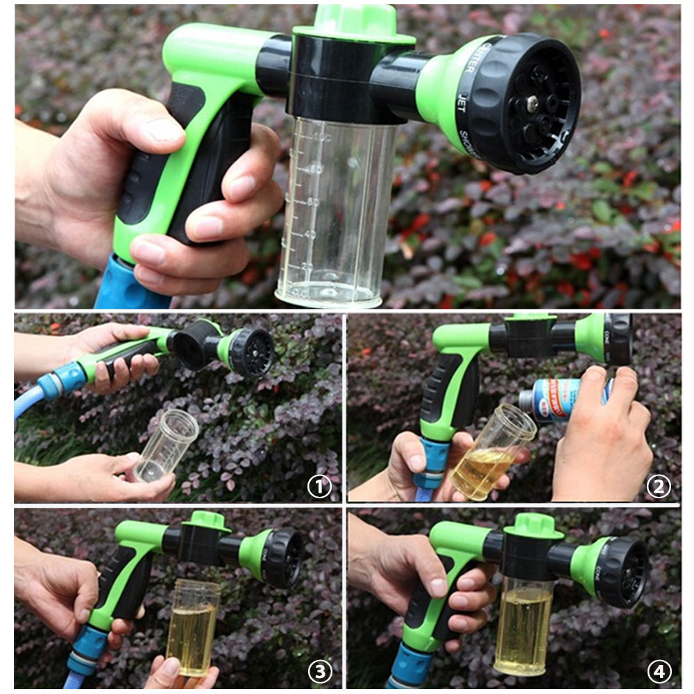 Multi-function Car Wash Foam Water Gun High Pressure Washer Water Portable Cleaning Water with One Press Switch Car/Home-use(China (Mainland))