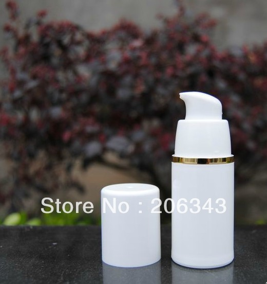 15ml white  airless vacuum pump lotion bottle used for Cosmetic Container<br><br>Aliexpress