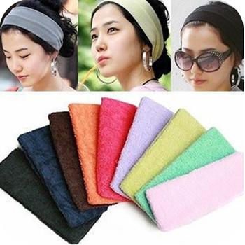 1PCS Free shipping   yoga hair band candy color toweled sports headband