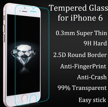 """2x FOR IPHONE 6s PREMIUM TEMPERED GLASS SCREEN PROTECTOR 0.3MM 9H 2.5D TOUGHENED GLASS FOIL FILM COVER FOR IPHONE 6 4.7"""""""