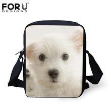FORUDESIGNS Mulheres Pequena Cruz-corpo Saco Tote 3D Chihuahua Cão Mulher Moda Messenger Bags Para Senhoras Ombro Bolsas Mochilas(China)