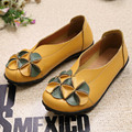Genuine Leather Women Shoes Casual Fashion Shoes Woman Light breathable Moccasins Women Flats Big Size 34