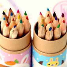 Buy 12 PCS Wholesale Girl Painting Stationary Supplies Drawing Writing Wooden Pencils Gifts 12 Colors for $1.29 in AliExpress store