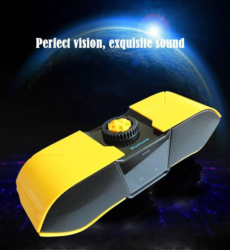 Portable Mini Bluetooth Small Speaker Mobile Phone Transformers Speaker Vibration Speaker Speaker Connector(China (Mainland))