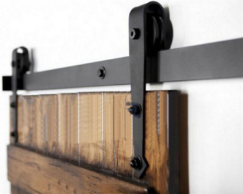 Rustic Vintage plate sliding barn door hardware&Barn door track Carbon Steel Slide Sliding Barn Door Hardware(China (Mainland))