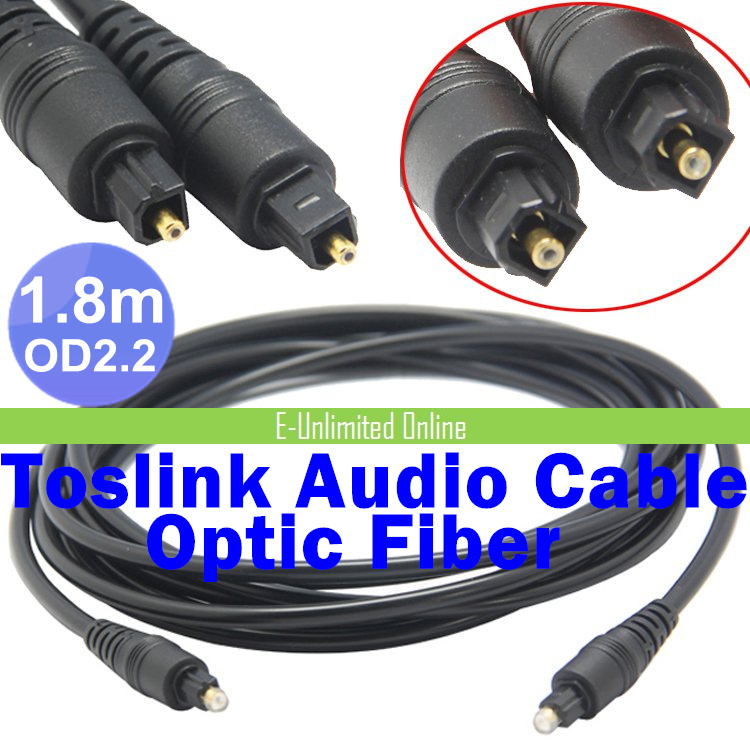 400pcs / lots 1.8m 6FT Digital Optical Optic Fiber Toslink Audio Cable 6FT 1.8m OD2.2mm AV Cable ,Free Shipping By Fedex<br><br>Aliexpress