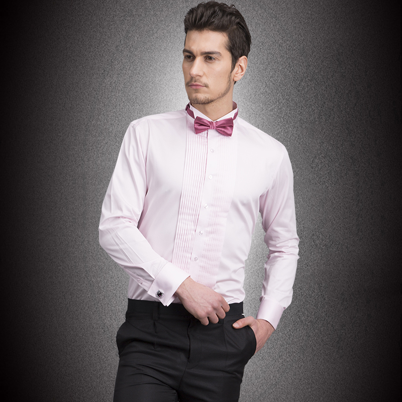 White Shirt Pink Bow Tie Custom Shirt
