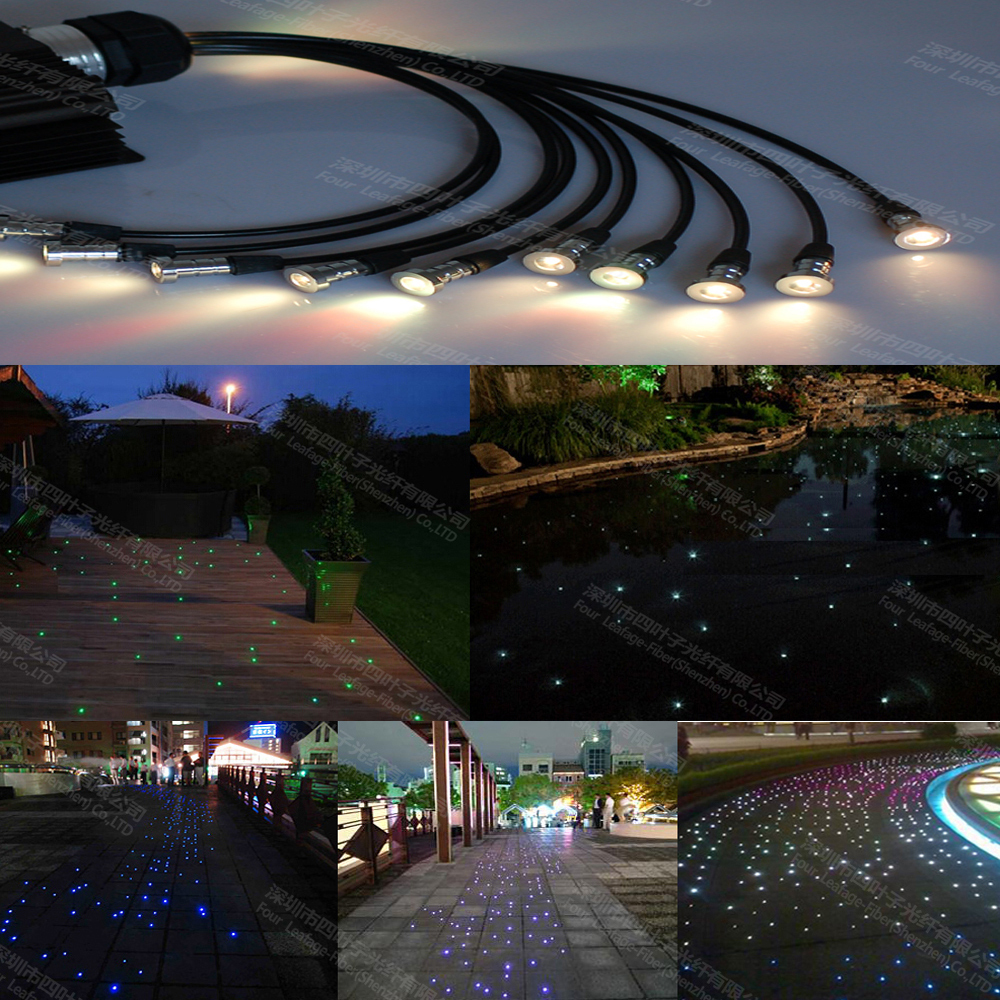 led waterproof underwater outdoor landscape star swimming pool fiber optic lighting lights(China (Mainland))