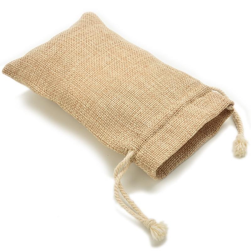 7x10cm Handmade Burlap Jute Drawstring Bags for Christmas Gift Candy Storage/ Wedding Decor/Soap(China (Mainland))