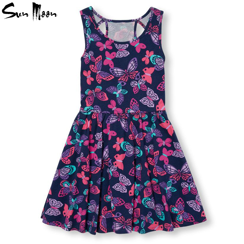 Retail children dress summer girls clothes toddler girl clothing butterfly princess costume sleeveless kids dresses for girls(China (Mainland))