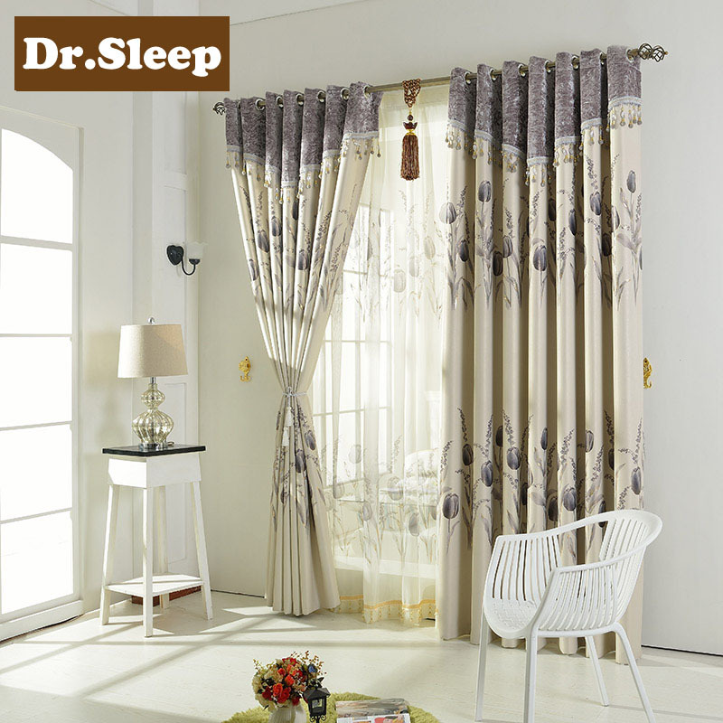 American Rustic Flower Curtain For Living Room Luxury