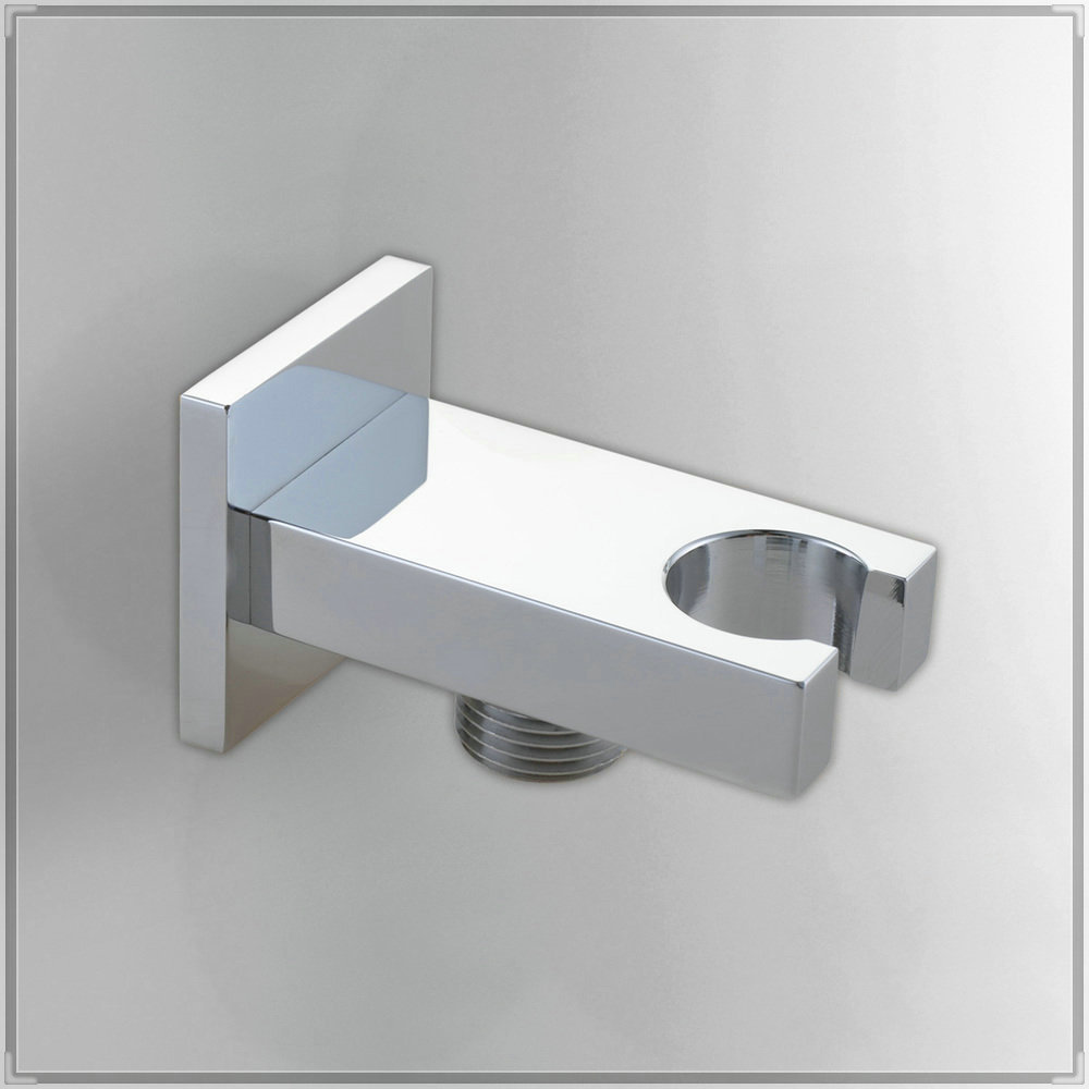 Bathroom accessories hand shower hook with hose connector for Bathroom shower accessories