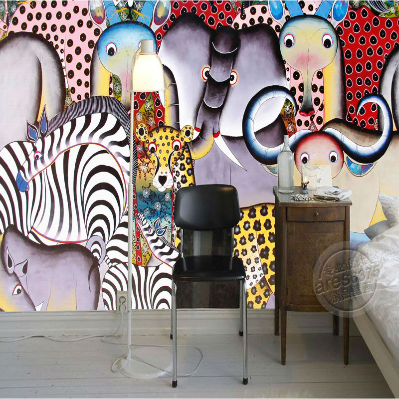 Compare prices on wallpapers for bedroom cute animals for Custom mural cost